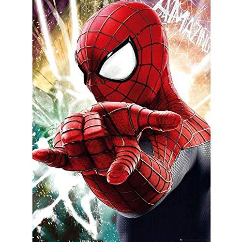 Bricolage 5D diamant peinture par numéro de kits pour adultes et enfants, 30 X 40 cm Spider Man rond plein forage cristal strass broderie point de croix Arts artisanat toile pour la décoration murale