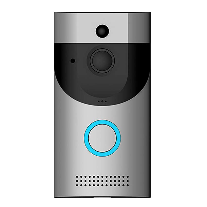 AKAKKSKY Smart Wireless WiFi Video Doorbell,720P HD Security Camera, 166° View Angle Real-time HD Monitoring, Two-Way Communication and Remote App Control Night Vision Suitable 32GB TF Card