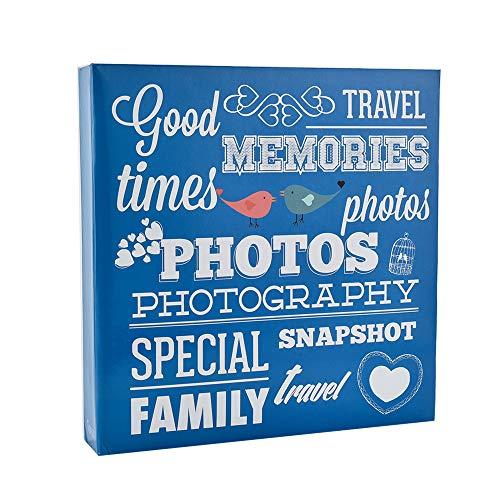 ARPAN - Álbum para 500 Fotos (10 x 15 cm, 34 x 4 x 33 cm, cartón), Color Azul