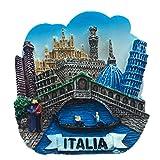 Weekinglo Souvenir Imán de Nevera Venecia Italia 3D Resina Artesanía Hecha A Mano Turista Viaje Ciudad Recuerdo Colección Carta Refrigerador Etiqueta
