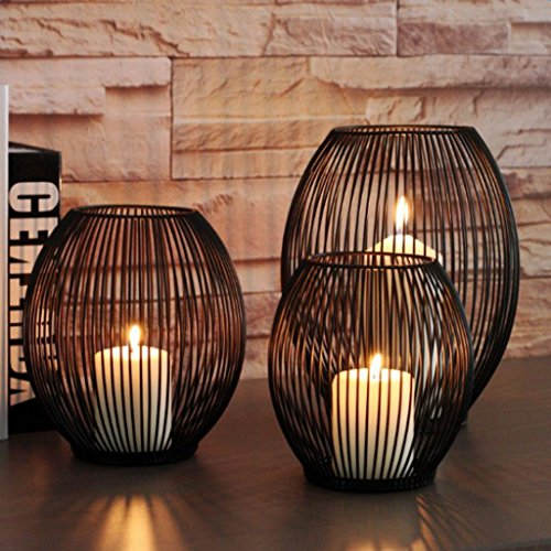 SM SunniMix Eisendraht Teelichthalter Kerzenhalter Kerzenständer Laterne Ornament - S