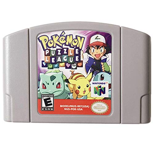 New Pokemon Puzzle League Video Game Cartridge US Version For Nintendo 64 N64 Game Console