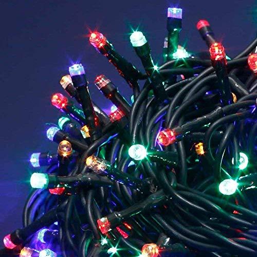 Bakaji Catena Luminosa 300 Luci LED Lucciole Multicolore con Controller 8 Funzioni per uso Interno ed Esterno