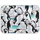 QMIN - Alfombrilla de secado de platos, diseño de pingüino de acuarela, reversible, absorbente, para platos de cocina, encimera, hogar, cafetera, fregadero, 45,7 x 61 cm