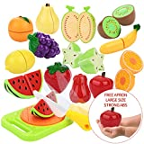 Fruits et legumes jouet a decouper dînette cuisine Jouets Imitation Peradix Jeu de couper de fruits plastique pour enfants(14pcs)
