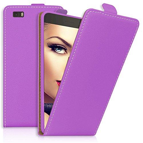 mtb more energy® Flip-Case Tasche für Huawei P8 Lite (ALE-L21. / 2015/5.0'') - Lila - Kunstleder - Schutz-Tasche Cover Hülle