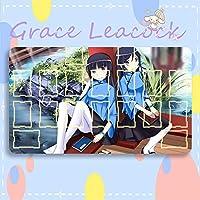 GraceLeacock カードゲームプレイマット 遊戯王 プレイマット 俺の妹がこんなに可愛いわけがない ごこう るり TCG万能 収納ケース付き アニメ 萌え カード枠あり (60cm * 35cm * 0.5cm)
