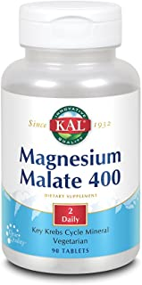 KAL® Magnesium Malate 400 | Chelated with Malic Acid for Energy Production | Supports Healthy Muscle Function | 90 Vegetarian Tablets