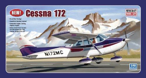 Minicraft Models Dempsey Designs Morceau modèles Echelle 1 : 48 modèle Cessna 172 Fixe Gear Kit