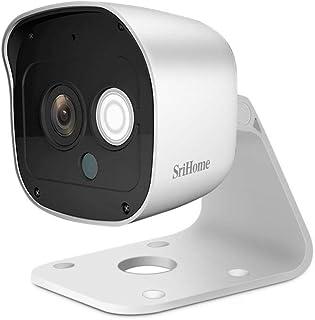 Sricam SriHome SH029 - Cámara WiFi IP inalámbrica infrarroja 3.0 megapíxeles HD IR CUT ONVIF P2P compatible con SD Audio