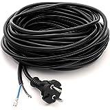 DeClean Staubsaugerkabel Anschlusskabel Kabel für Staubsauger 15 Meter Universal für