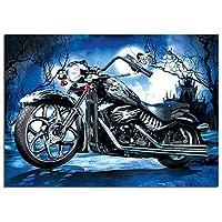 DIY5Dダイヤモンド絵画オートバイクロスステッチキットダイヤモンド刺繡抽象モザイクアートピクチャークラフト家の装飾Z5643,80x105cm