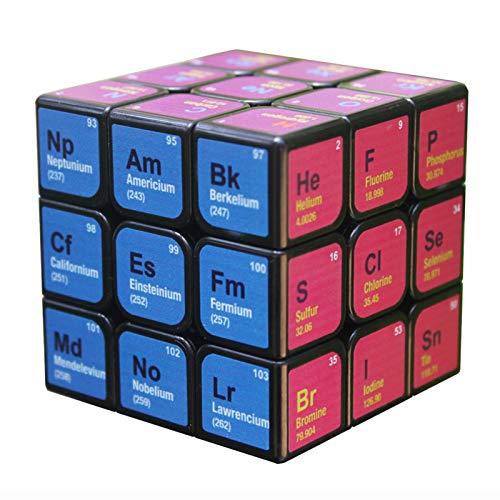 Buding Zauberwürfel Mit Periodensystem 3x3x3 Magische Würfel Geschwindigkeit Für Konzentrations Und Kombinationsübungen Druckminderer Intelligenz IQ Geschenk Kind