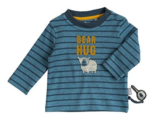Sigikid Baby-Jungen Langarmshirt, Blau (Melange 779), 74