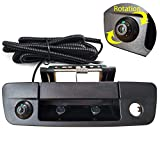 Dodge Ram Back Up Camera Rear View Camera Tailgate Handle Replace Camera Fit for Years 2013-2018,Tailgate Door Handle Replacement Camera(for Dodge Ram 1500 2500 3500)