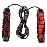 Cuerda para Saltar Profesional rope skipping Training con Mango de Espuma de Suave para Fitness, Ejercicio de Intervalos, Crossfit (rojo)