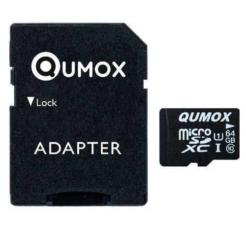 QUMOX 64GB Scheda memoria MICRO SD MEMORY CARD CLASS 10 UHS-I da 64 GB ad alta velocità Velocità di scrittura 20 MB / s Velocità di lettura fino a 40M