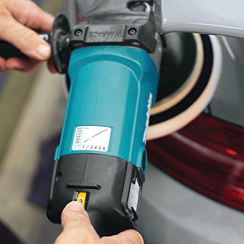 Makita 9237CX3 Makita 7' Polisher, 10 AMP, 600-3,000 RPM, var. spd., loop handle with foam pad and bag, ,