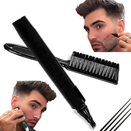 Bart Stift Füller Bartfüllstift Wasserdicht und schweißfest Langlebige Abdeckung Bartstiftfüller für Männer Bart-Augenbraue mit natürlichem Finish