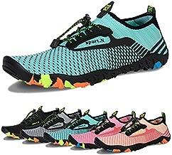 Men Women Water Sports Shoes Slip-on Quick Dry Aqua Swim Shoes for Pool Beach Surf Walking Water Park (E-Light Green, 39)
