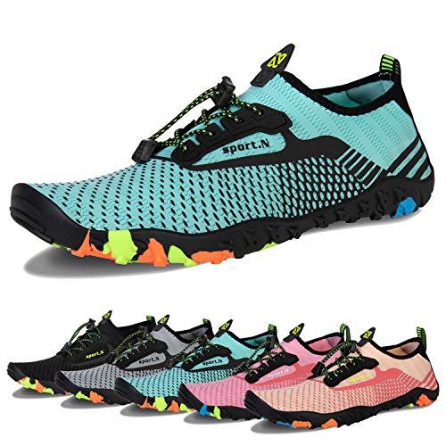 Water Shoes Mens Womens Beach Swim Shoes Quick-Dry Aqua Socks Pool Shoes for Surf Yoga Water
