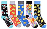 Hyp The Simpsons All Over Patterns Men's Crew Socks 5 Pair Pack