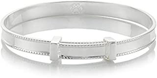Baby's Sterling Silver Heritage Baptism Bangle - Perfect Baby Shower Newborn & Gifts Arrives with Luxury Jewelry Box