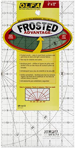 Olfa 1071819 Regla de acrílico mate, 15,2 x 30.5cm