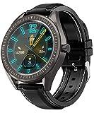 COULAX SmartWatch, GPS Uhr mit 1.3 Zoll Touch Farbdisplay, Blutdruck Fitness Armbanduhr, IP68 wasserdichte Sportuhr mit Blutsauerstoff Monitor Schrittzähler Schlafmonitor, Stoppuhr für Damen Herren
