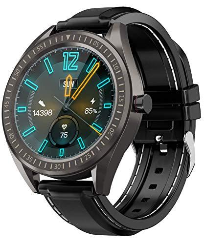 COULAX - Reloj inteligente con pantalla táctil de 1,3 pulgadas, reloj deportivo con podómetro, frecuencia cardíaca, monitor de sueño, cronómetro, IP68, resistente al agua