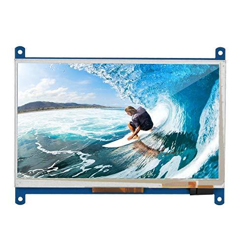 Wendry 7-inch HDMI-touchscreen, HDMI-LCD-scherm hoge resolutie HDMI-monitor capacitief touchscreen voor Raspberry PI