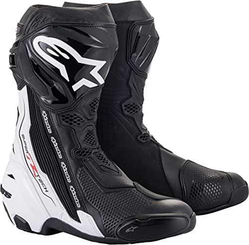 Alpinestars Supertech R Motorradstiefel Schwarz/Weiß 45