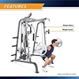 Marcy Smith Cage Workout Machine Total Body Training Home Gym System with Linear Bearing Md-9010G, Silver (MD-9010)