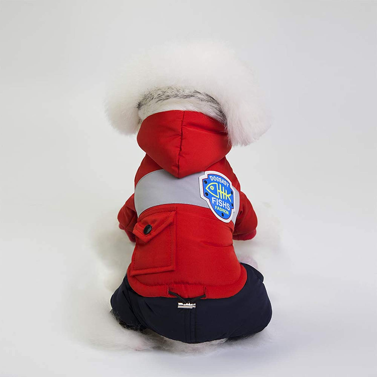 HUAIX petsuppliesmisc Autumn and winter new dog coats, pet supplies, pet clothes, autumn and winter, European and American style snow clothes (color   Red, Size   XL)