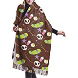 Elaine-Shop Skateboard Fingerboard Extreme Sport Women 's Comfortable Cashmere Shawl Wraps Winter Large Scarf