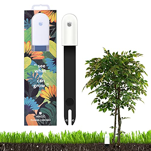 Flower Care Max Bodentester, IPX6 Pflanzensensor Tester, Intelligenter 4 in1 Bluetooth Pflanzen Sensor, Automatisch das Feuchtigkeits/Licht/Fruchtbarkeits/Temperaturniveau für den Außenbereich
