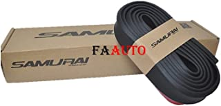 Faauto Samurai Black Car Bumper Door Edge Lip Guard Protector Moulding Trim for Ford Figo(Set of 1 Pcs)