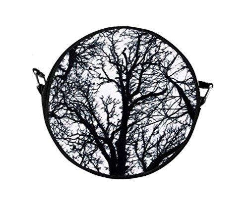 Black Out Gothic Handtasche Bäume schwarz Umhängetasche mit Henkel