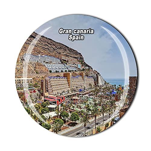 Spanien 3D Gran Canaria Kühlschrankmagnet Kristallglas Magnet Tourist Reise Souvenir Sammlung Geschenk Magnetaufkleber Home Küche Dekoration
