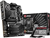 MSI MEG B550 Unify-X Gaming Motherboard (AMD AM4, DDR4, PCIe 4.0, SATA 6Gb/s, Dual M.2, USB 3.2 Gen 2, HDMI, Wi-Fi 6 AX, ATX, AMD Ryzen 5000 Series Processors)