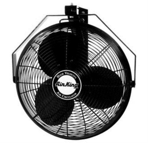 Air King 9518 18-Inch Industrial Grade Wall Mount Fan, 1/6-Horsepower,Black