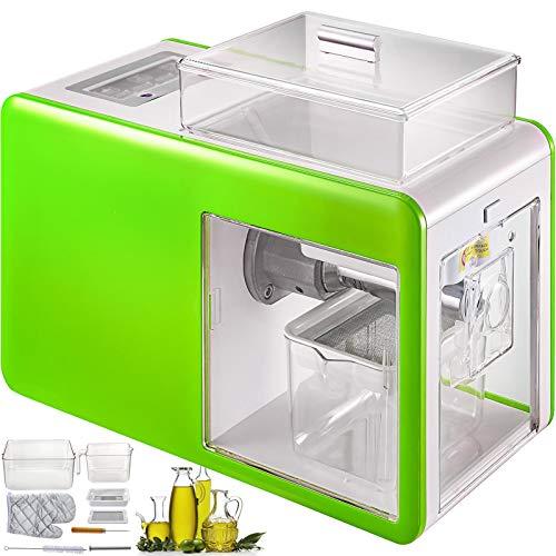 Anhon Máquina de Prensa de Aceite de Oliva Automático 500W Semillas Expulsor de Aceite en Frío con El Modo Multifuncional Máquina Automática de Prensa de Aceite Prensar Todo Tipo de Aceite Verde