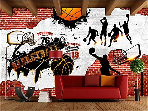 Papel Tapiz - Baloncesto de la NBA Fotomurales 280(H) X 400(W) cm Papel pintado tejido no tejido Decoración de Pared decorativos Murales moderna de Diseno Fotográfico Abstracto decoración