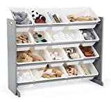 Humble Crew Supersized Wood Toy Storage Organizer, Extra Large, Grey/White
