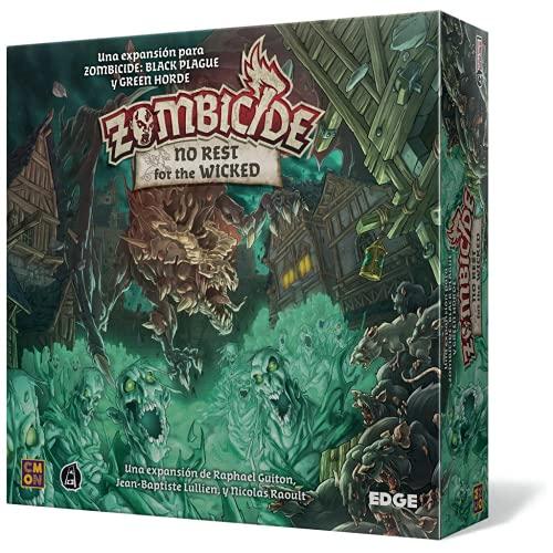 Edge Entertainment- Zombicide Black Plague: No Rest for The Wicked - Juego de Mesa en Castellano, Color (EECMZB04)