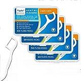 Vegena 200 Piezas Hilo dental, Palo Hilo Dental Floss Dental Palillo de dientes Limpieza con Estuches Portátiles Perfectos para la Familia Hotel Viajes