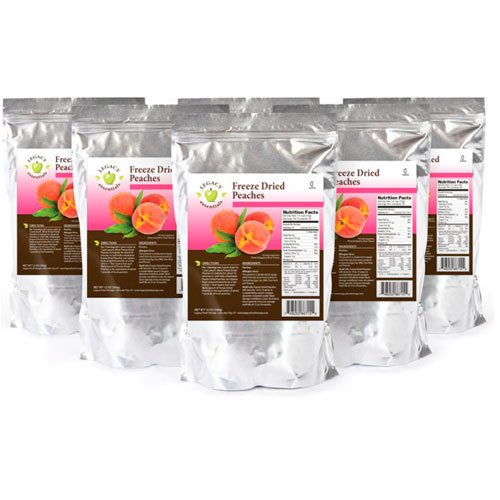 Legacy Essentials Freeze Dried Peaches - 15 Year Shelf Life for...