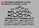 Ecoshirt CW-SBCM-V7RL Pegatinas Kuota Kredo Ultra Road Bikes F142 Stickers Aufkleber Decals Autocollants Adesivi, Negro
