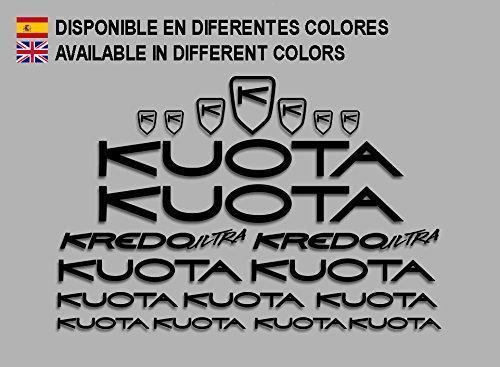 Ecoshirt CW-SBCM-V7RL Adesivi Kuota Kredo Ultra Road Bikes F142 Stickers Aufkleber Decals Autocollants Adesivi, Nero