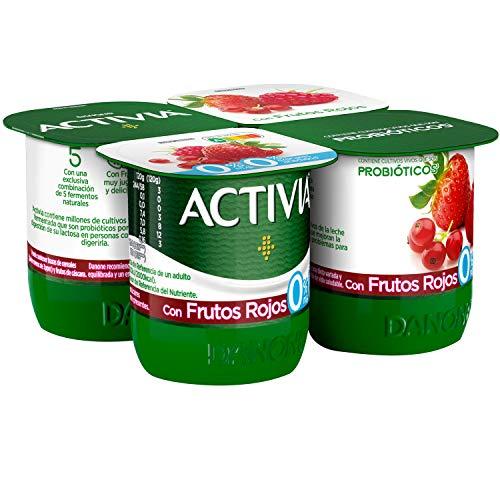 Activia con Frutos Rojos 0% M.G. 4x120 g